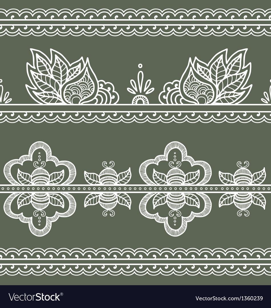 Indian ornament vector