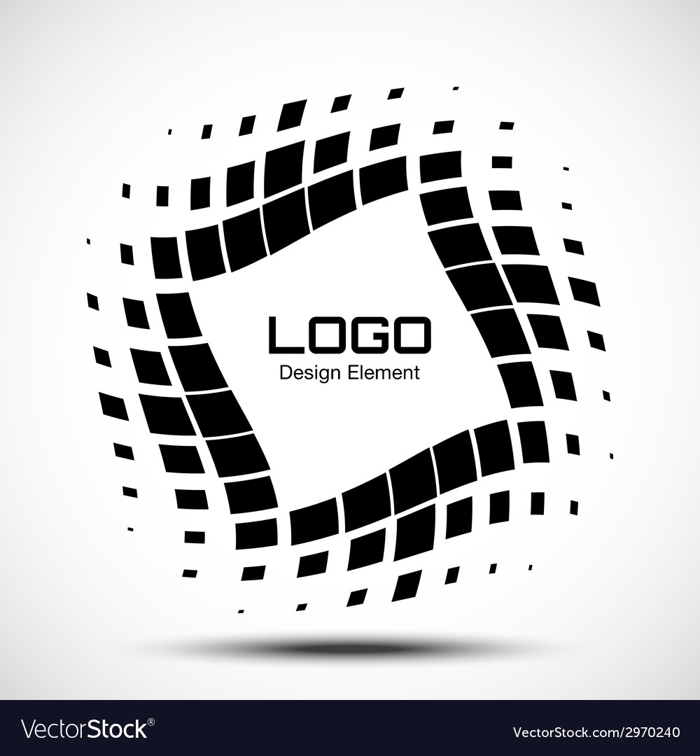 Abstract halftone logo design element vector
