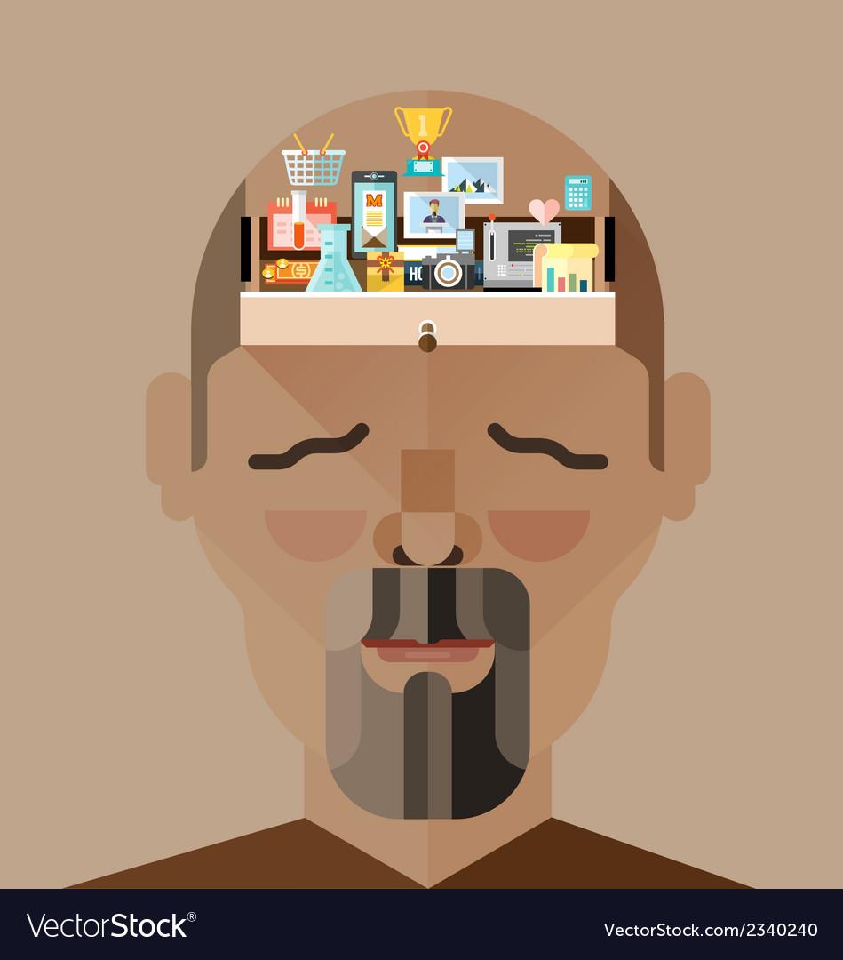 Human brain memory vector