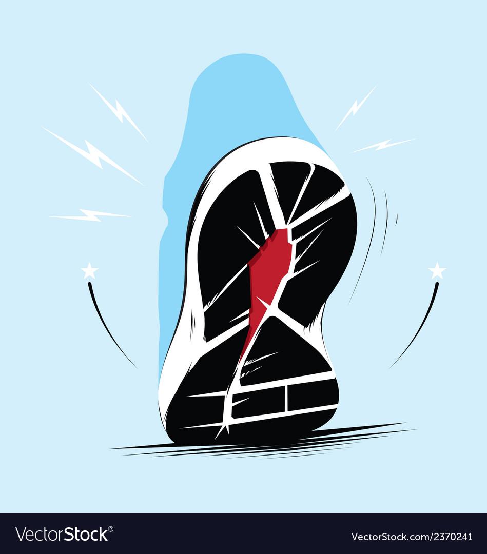 Running shoe sole vector