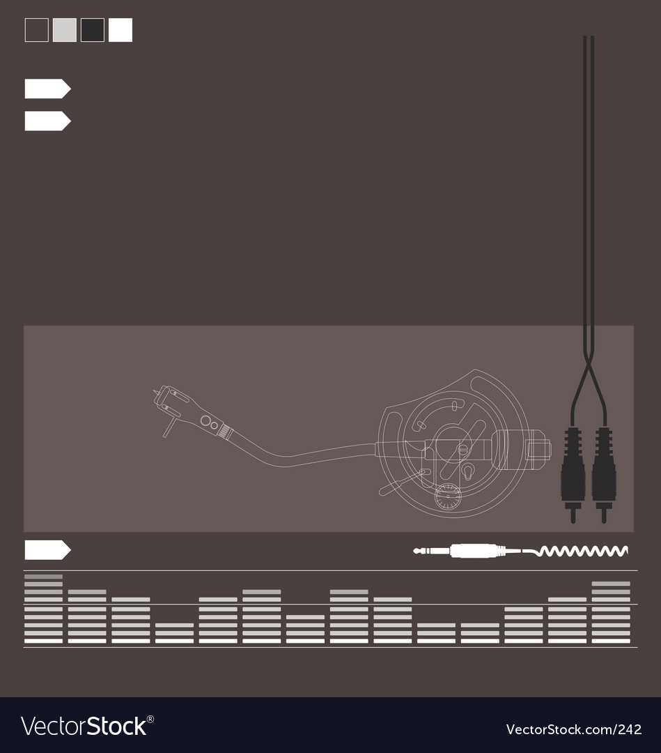 Dj audio elements vector