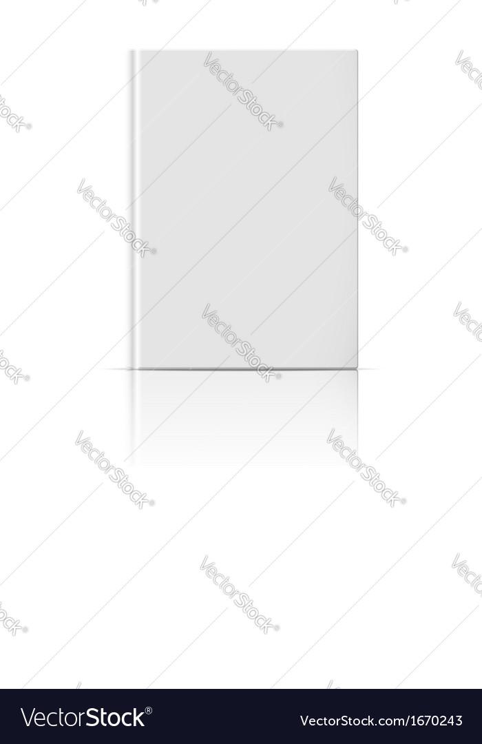 Blank vertical book template vector