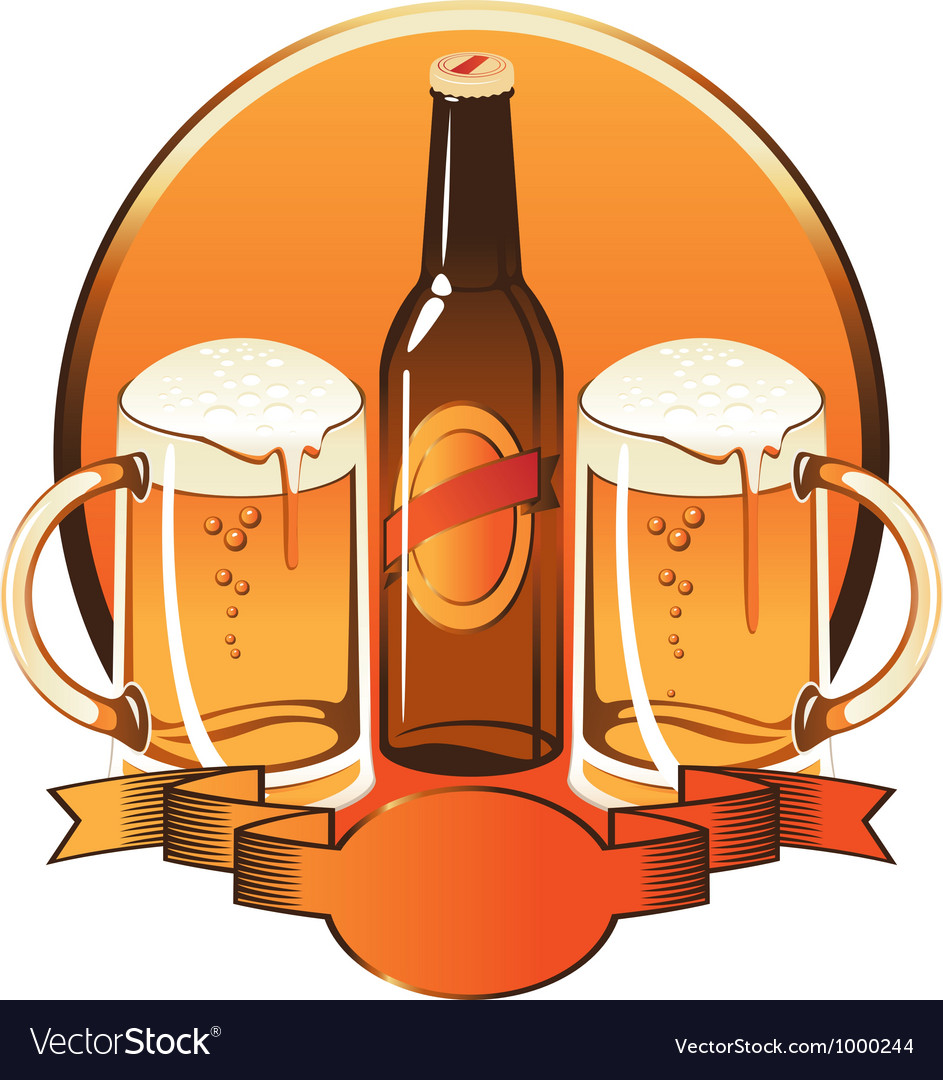 Beer glass vector