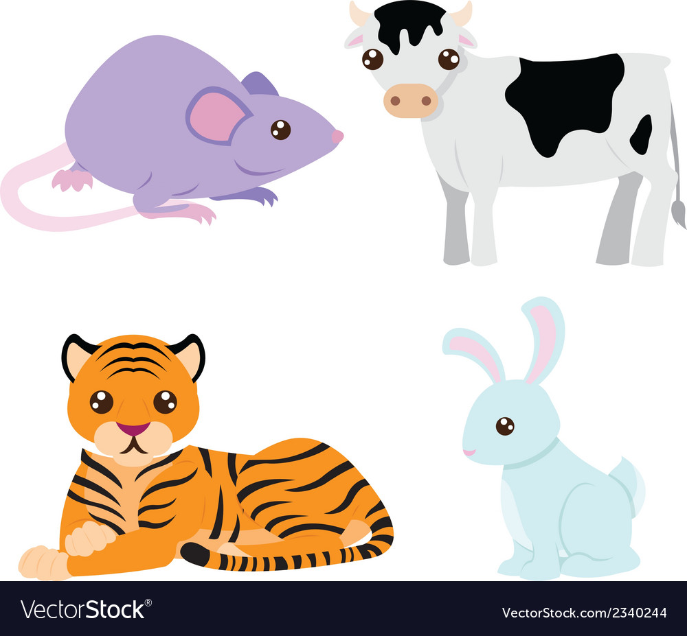 Chinese astrology signs set vector