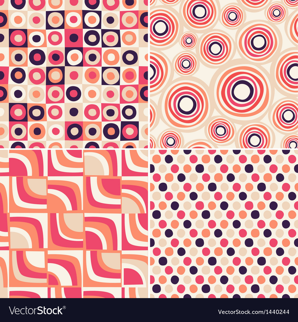 Retro seamless abstract pattern vector