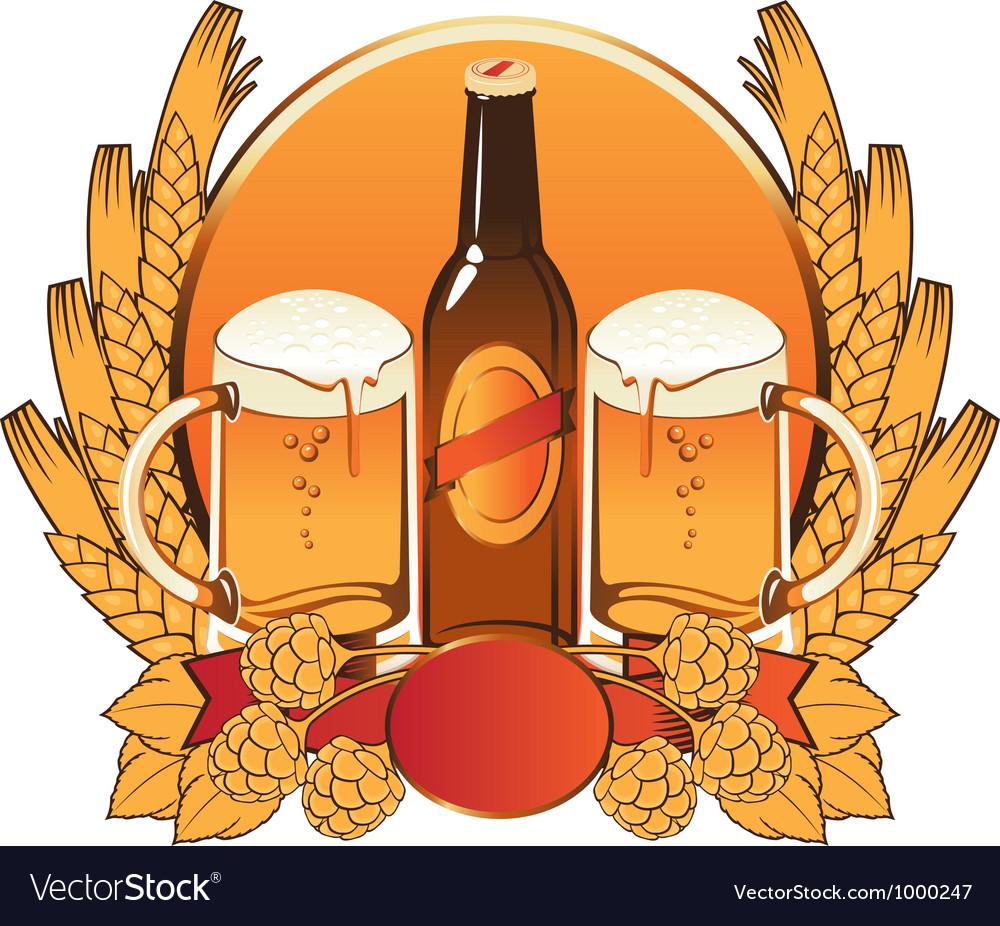 Malt beer vector