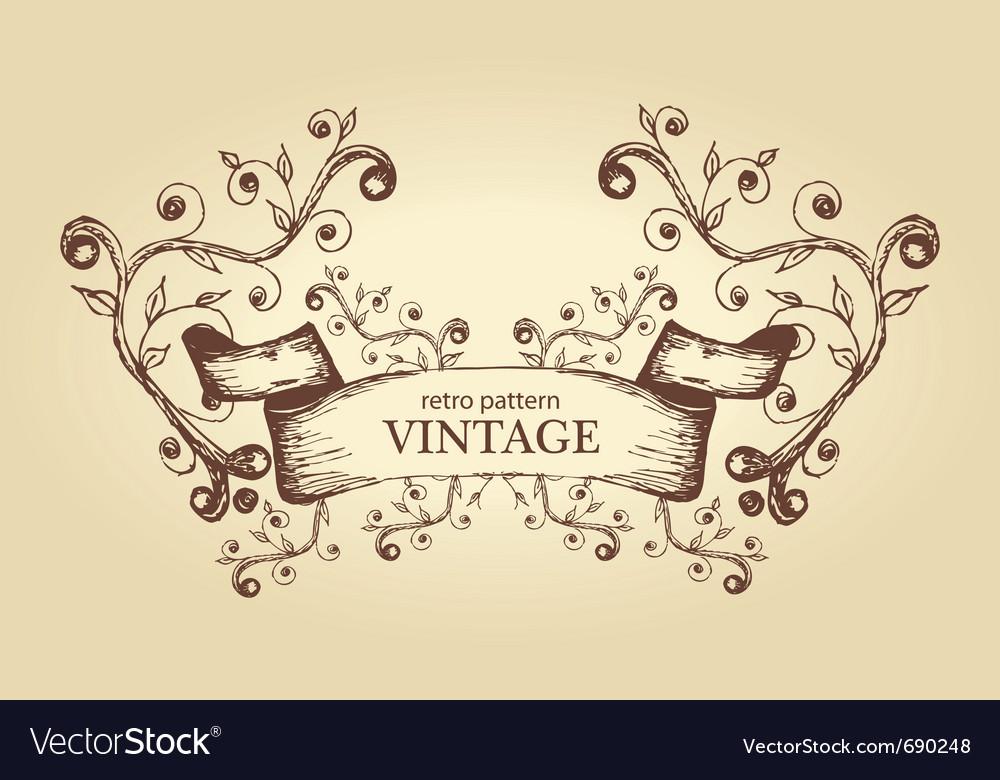 Abstract antique frame vector