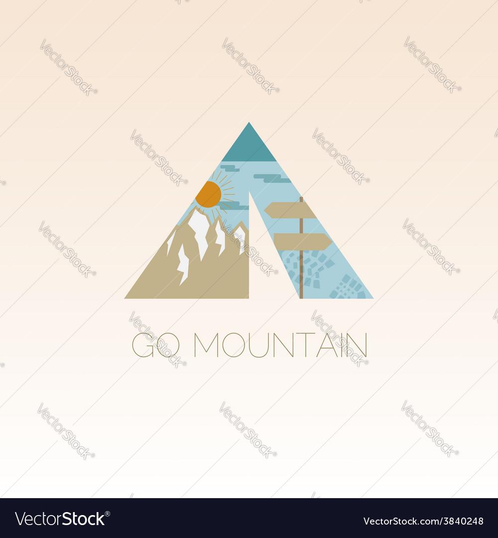 Mountain camp logo design template adventure vector