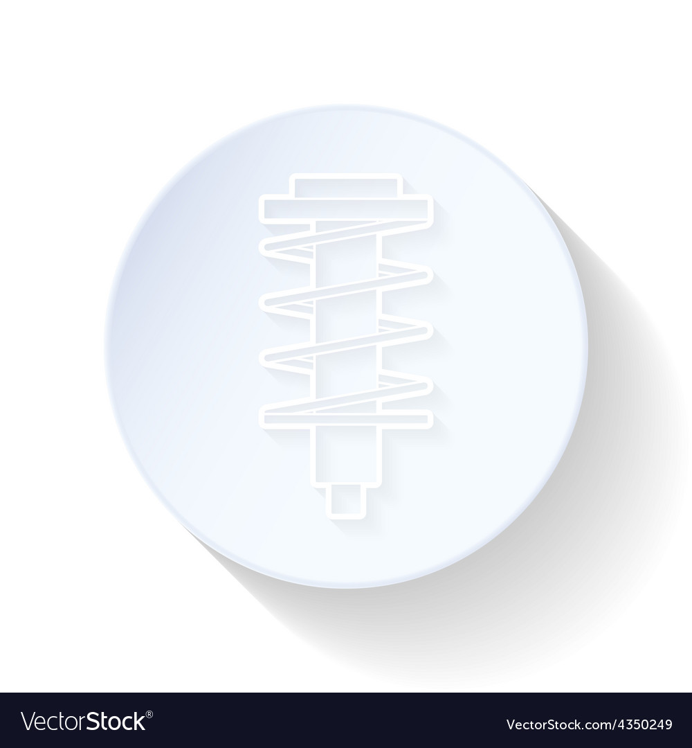 Shock absorber thin lines icon vector