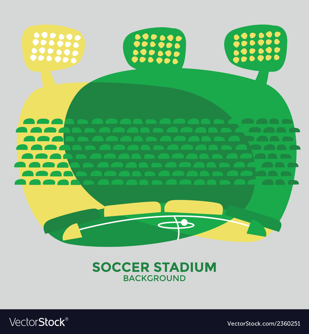 Soccer stadium graphic vector
