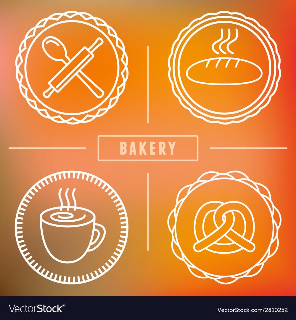 Bakery icon badge vector