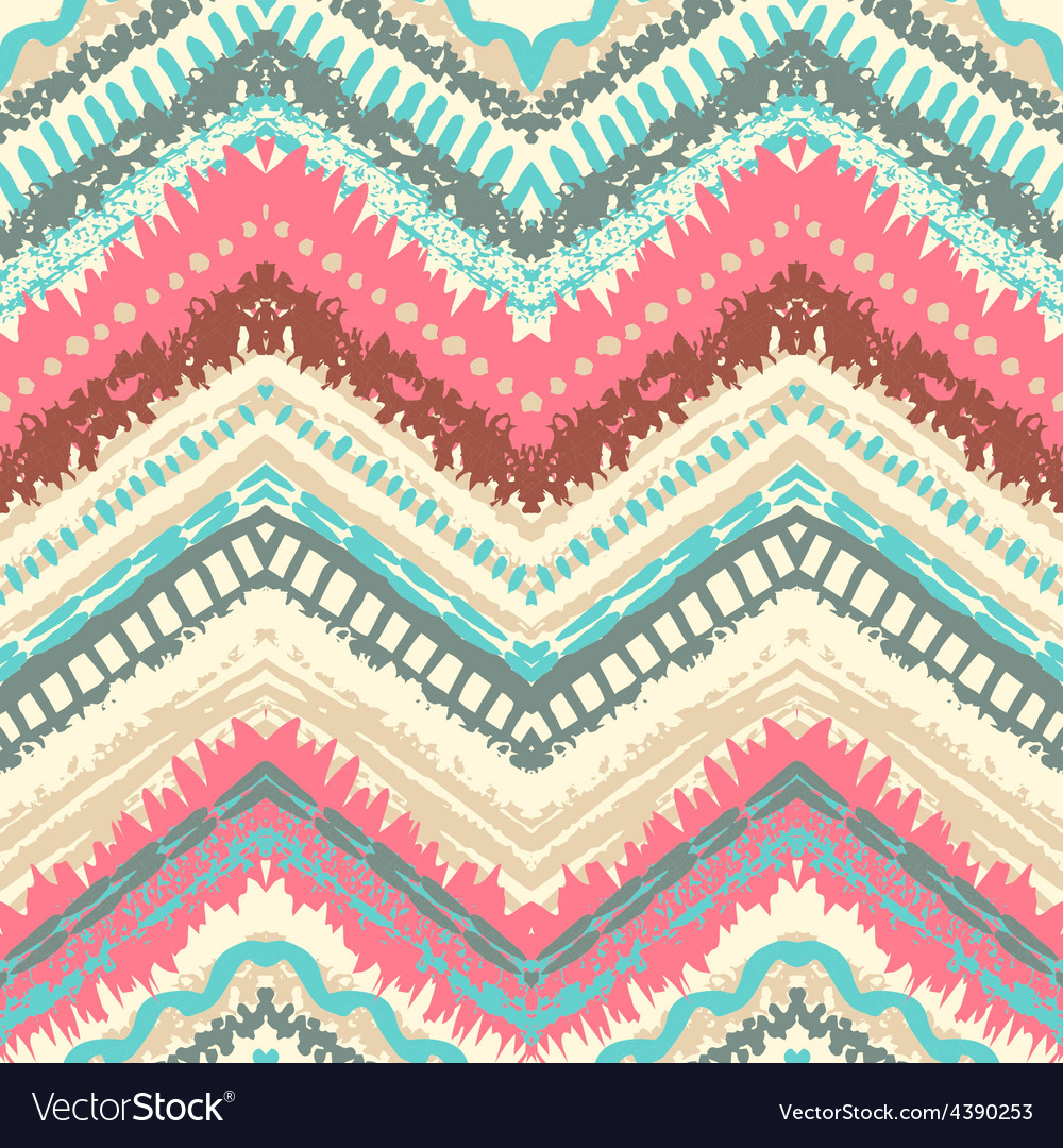 Hand drawn painted seamless pattern vector