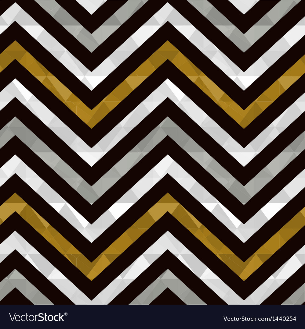 Seamless gold zig zag pattern vector