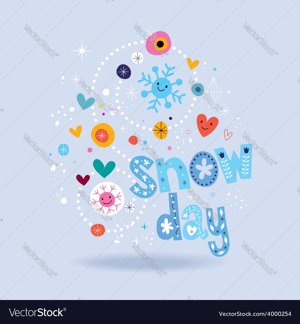 Snow day 2 vector