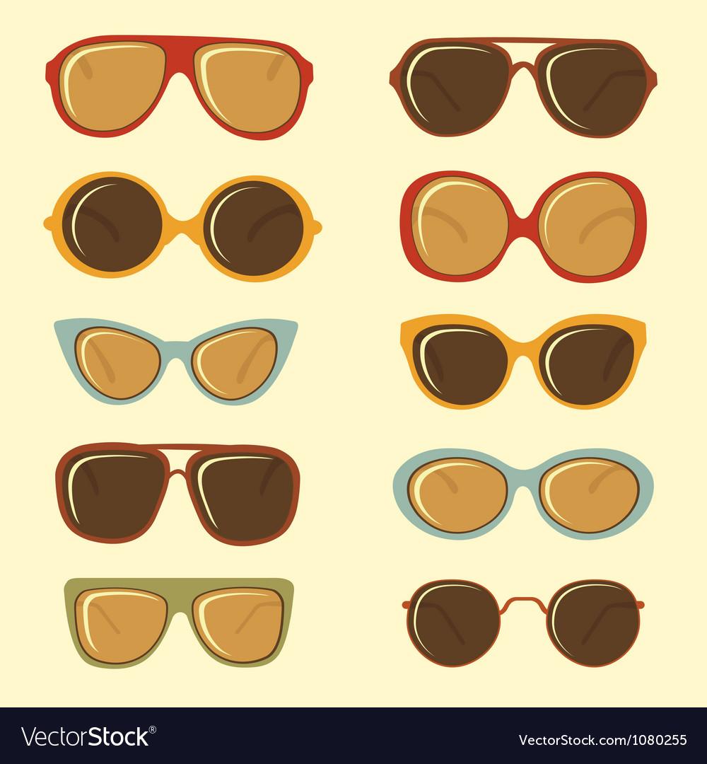 Fashion sunglasses set vector