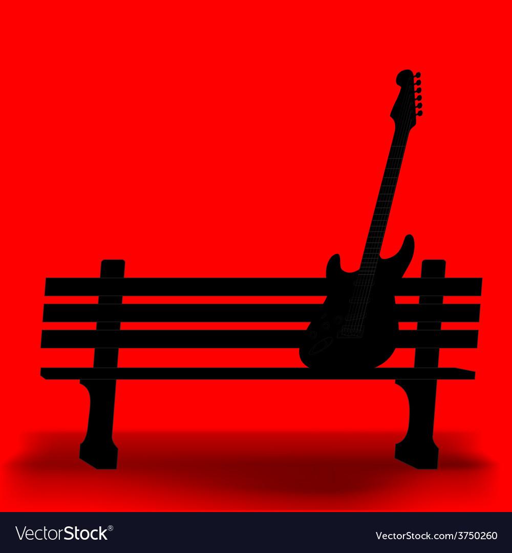Bench guitar 1 vector