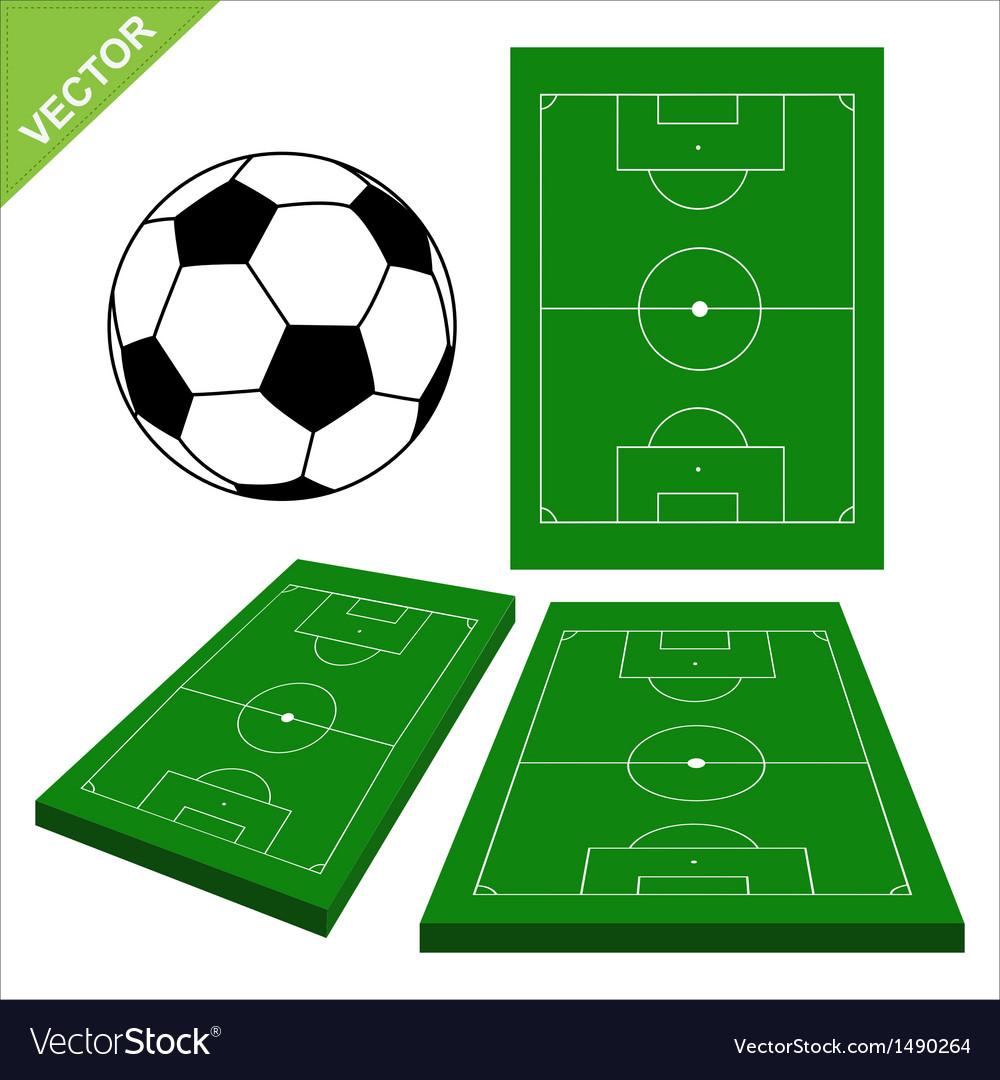 Soccer ball and soccer stadium vector