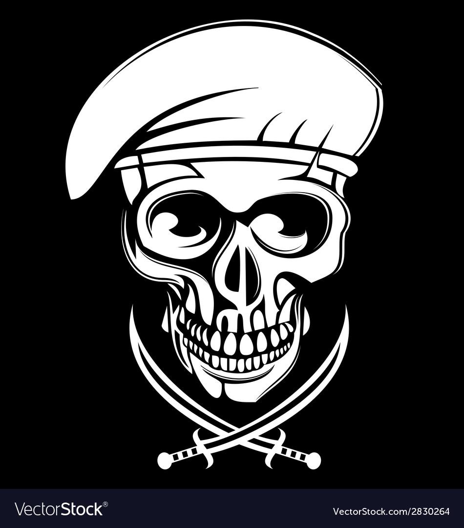 White army skulls vector