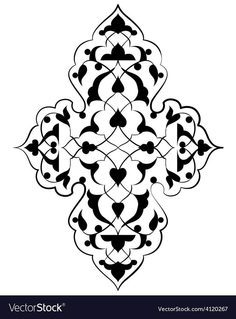 Artistic ottoman pattern series seventy three vector