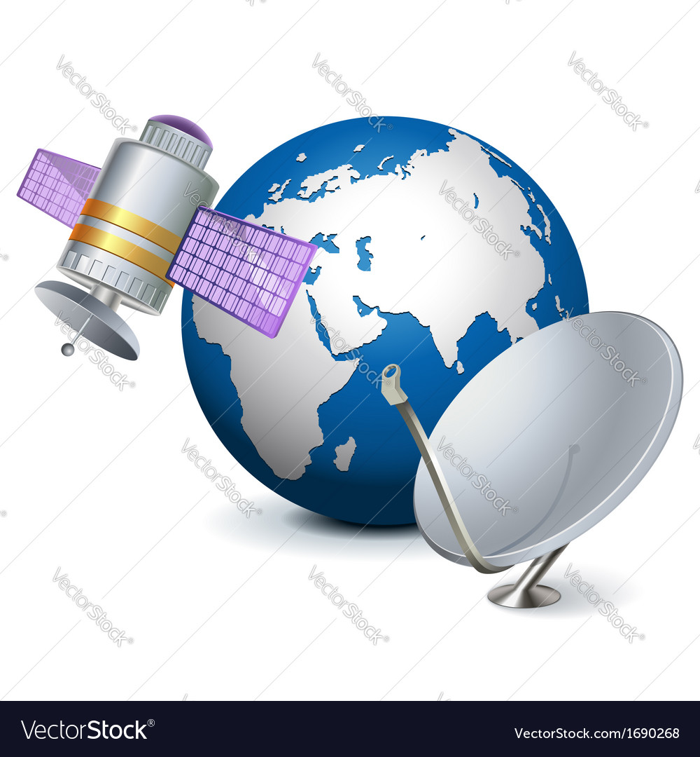 Satellite technology concept vector