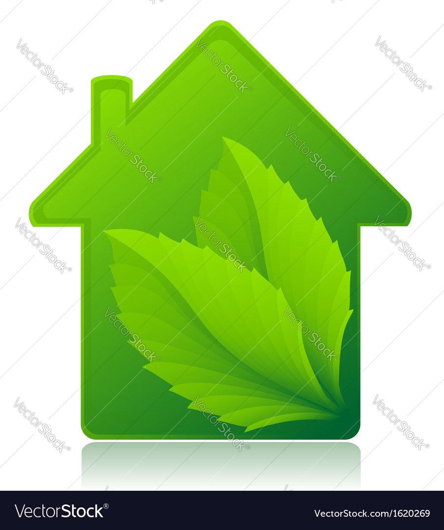 Ecological house concept vector