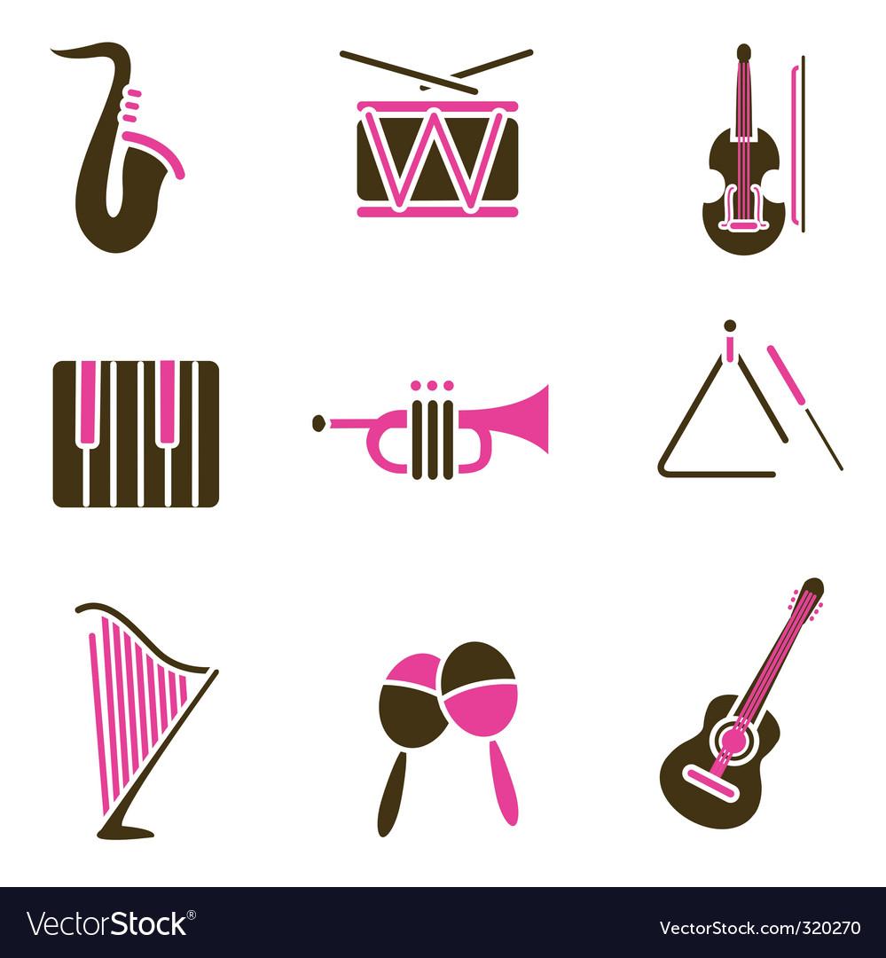 Instrument icon vector