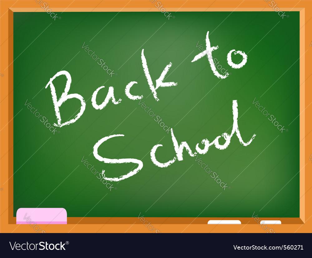 School chalkboard vector