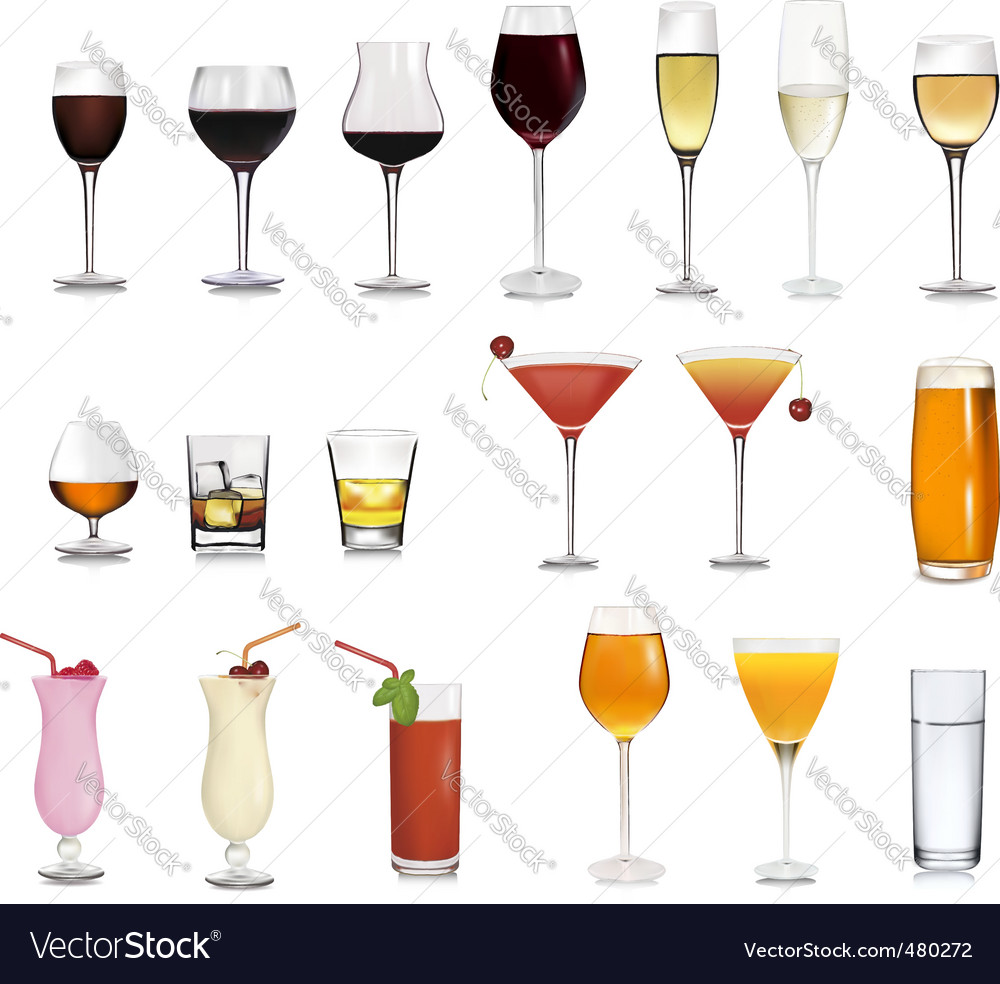 Super collection of glasses vector