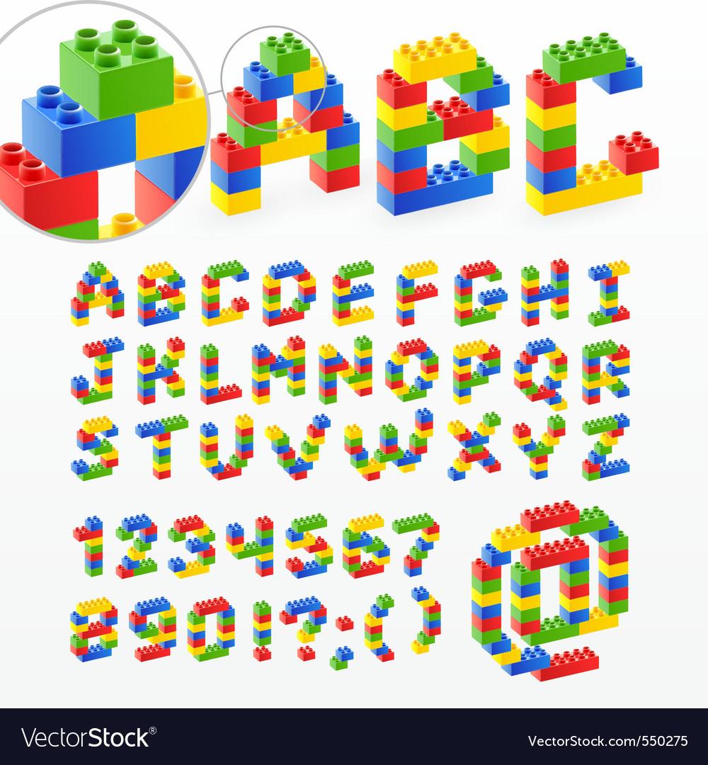 Brick typography vector