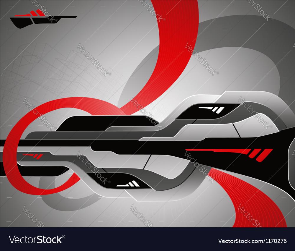 Abstract futuristic 3d design vector