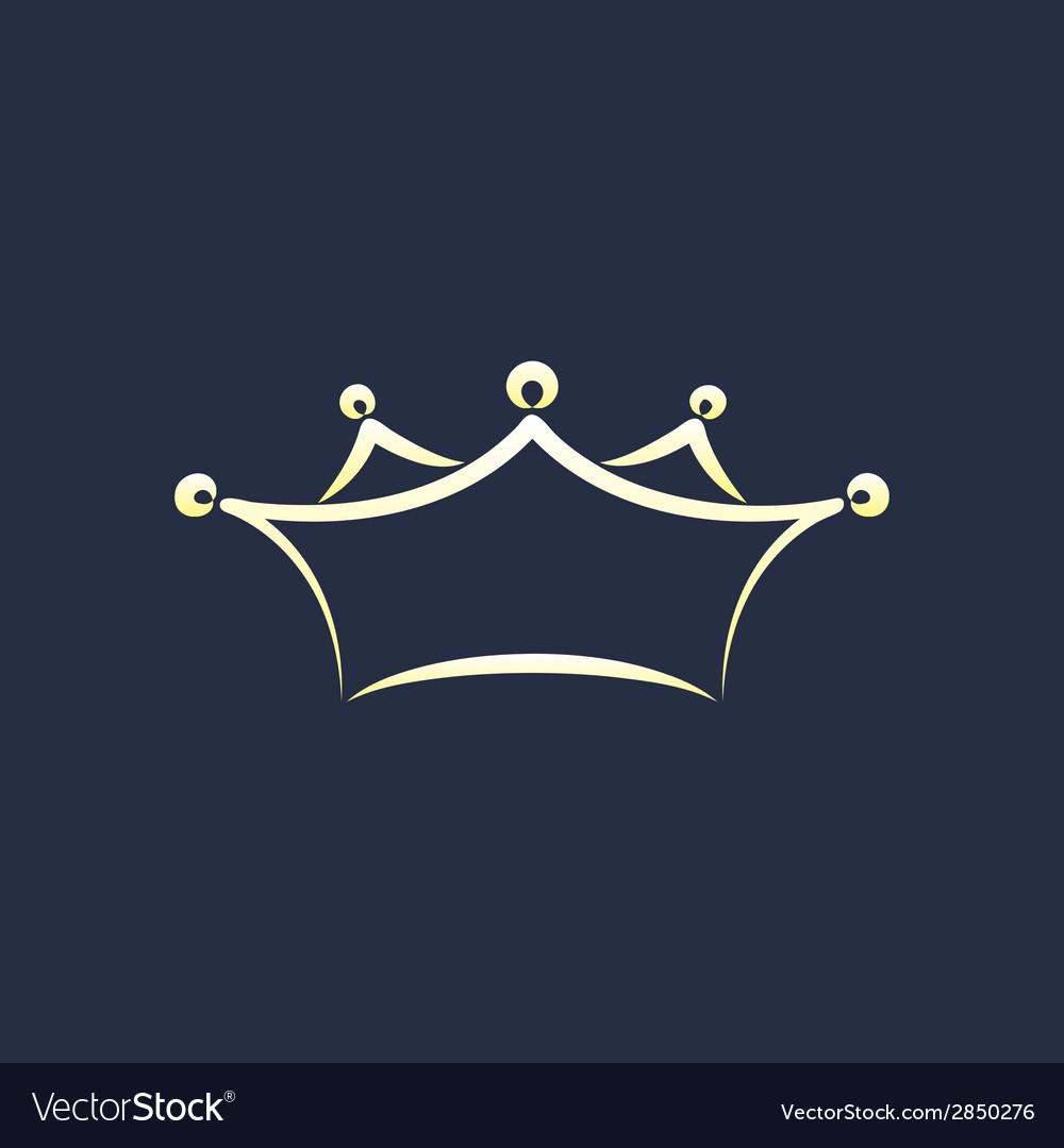 Symbol of crown vector