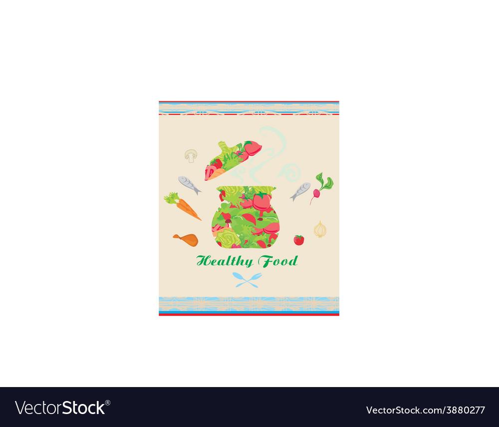 Banner healthy food vector