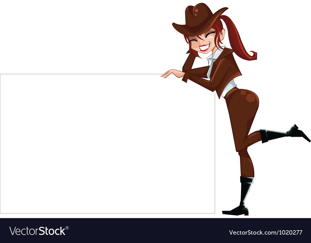Girl-scout-withs-pace-for-text vector