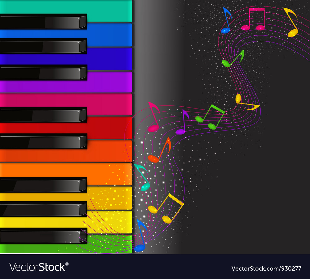 Piano background vector