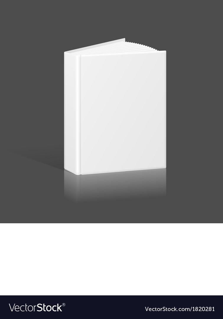 Blank book binder or folder template vector