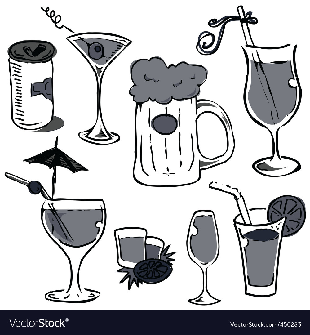 Alcohol grass vector