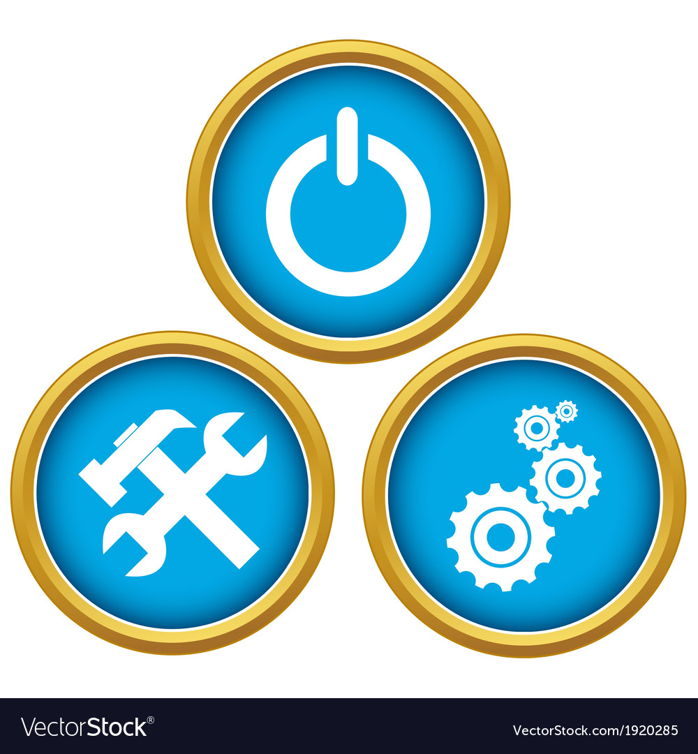 Repairs icons vector