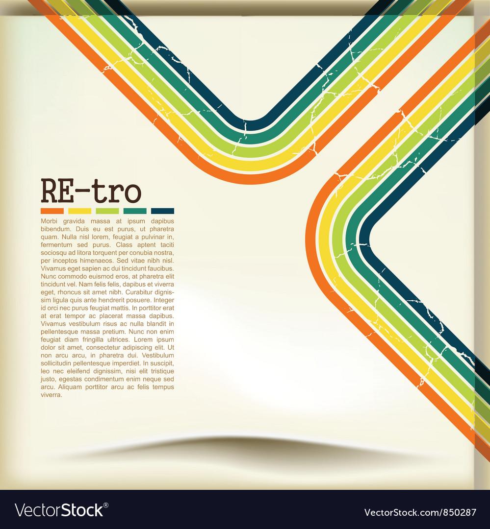 Retro copyspace background vector