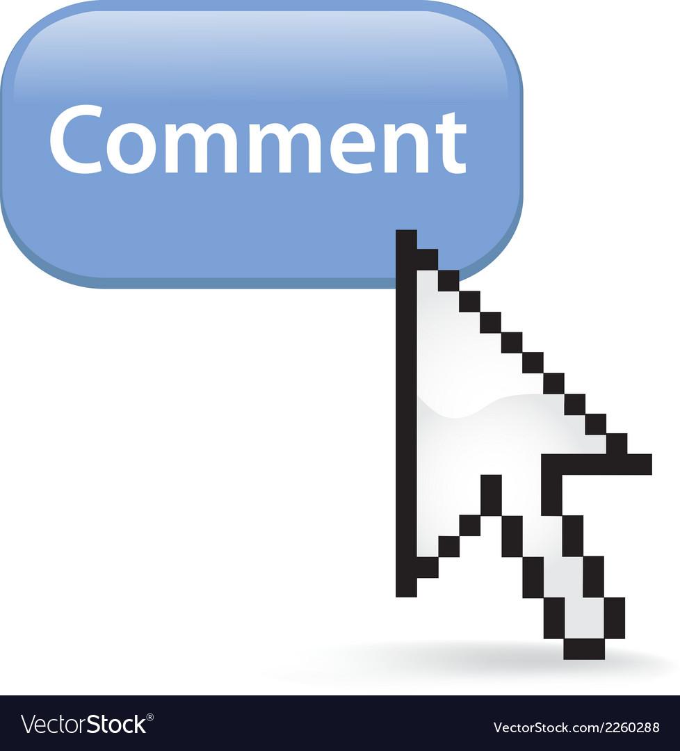 Comment button click vector