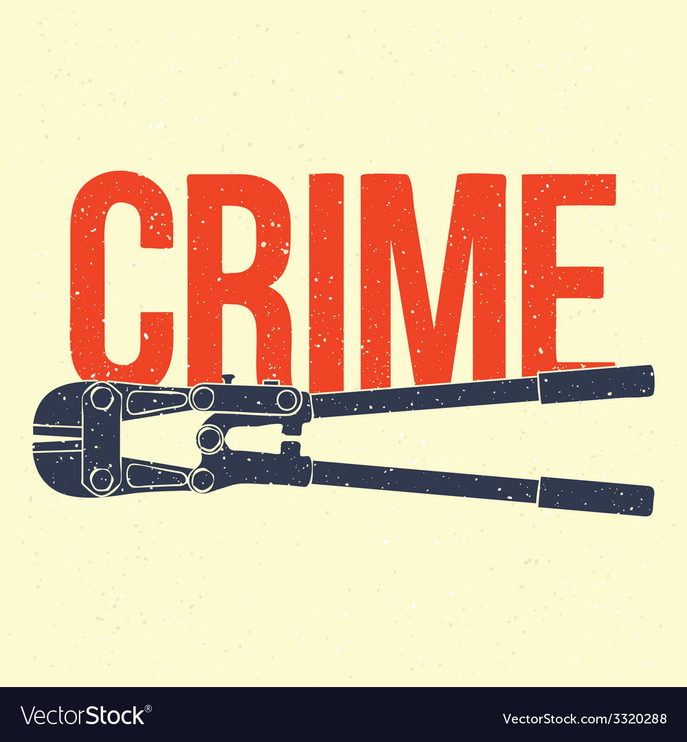 Crime poster vector