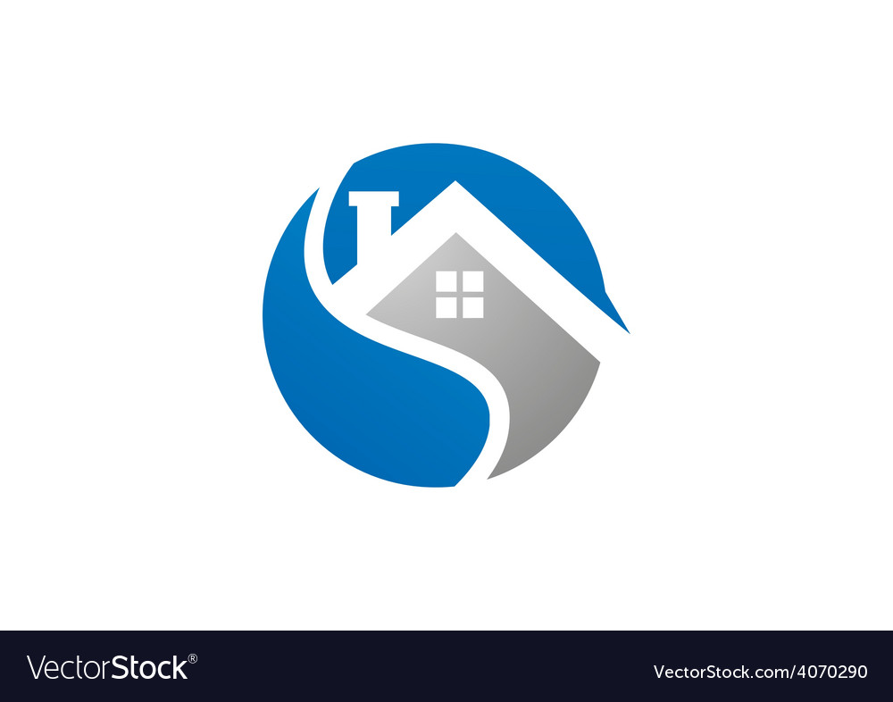 Home realty icon abstract logo vector