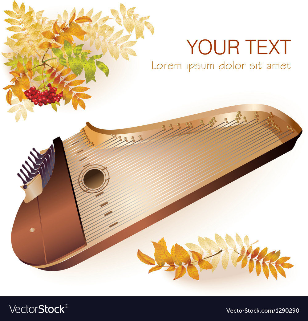 Traditional finnish kantele vector