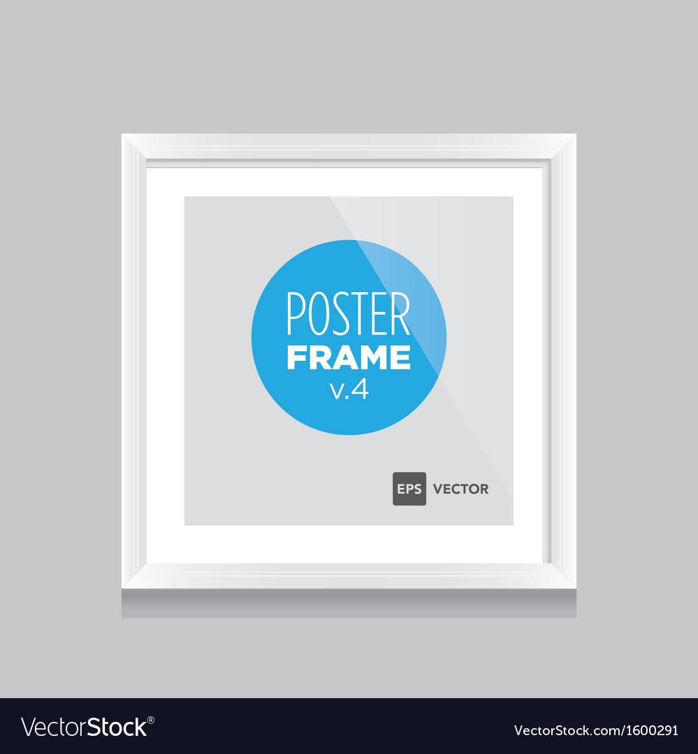 Poster frame white square vector