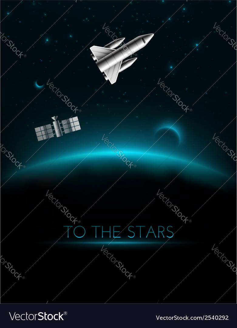 To the stars vector