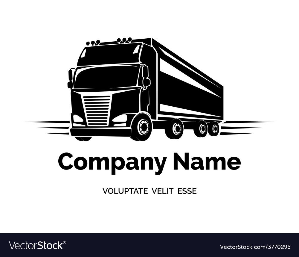 Cargo truck logo vector