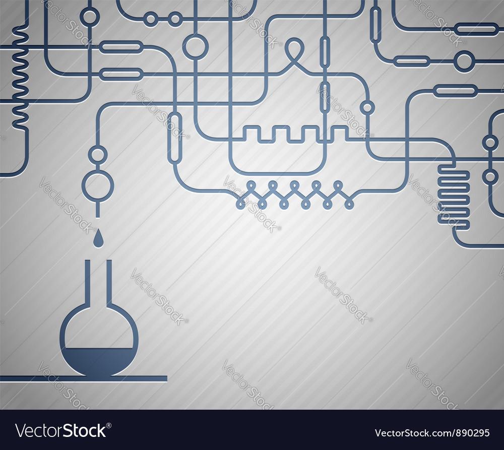 Science laboratory vector