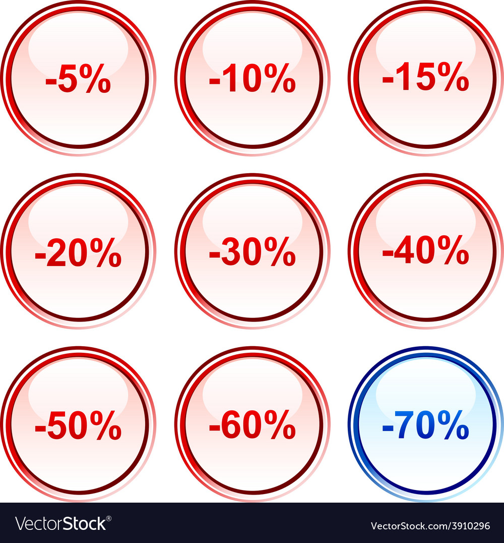 Discount buttons vector