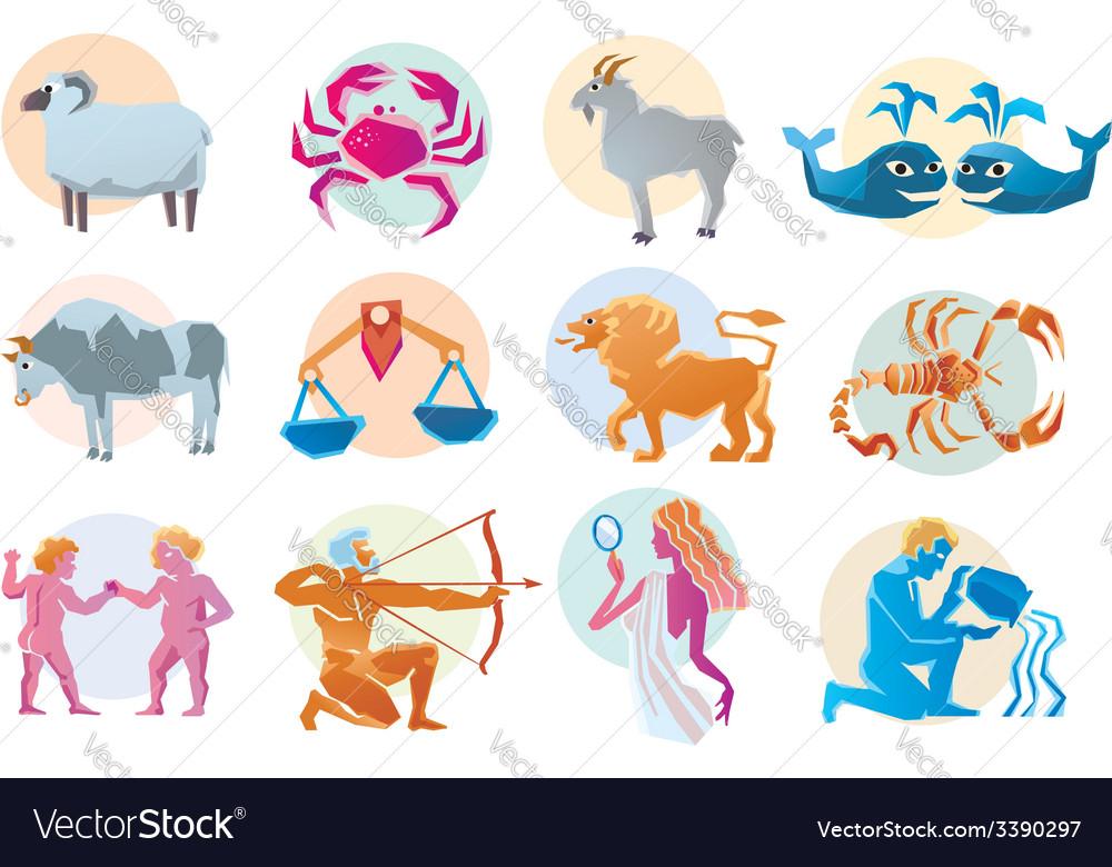 Set astrology sign vector