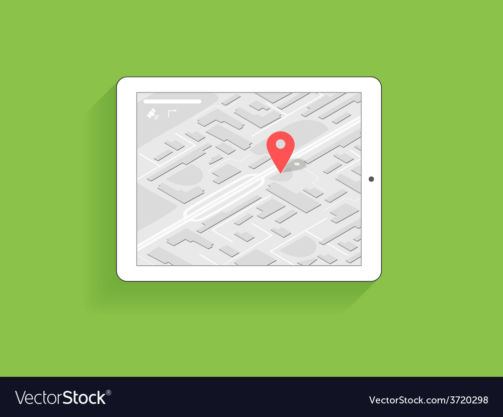 Tanlet pc with gps navigation vector