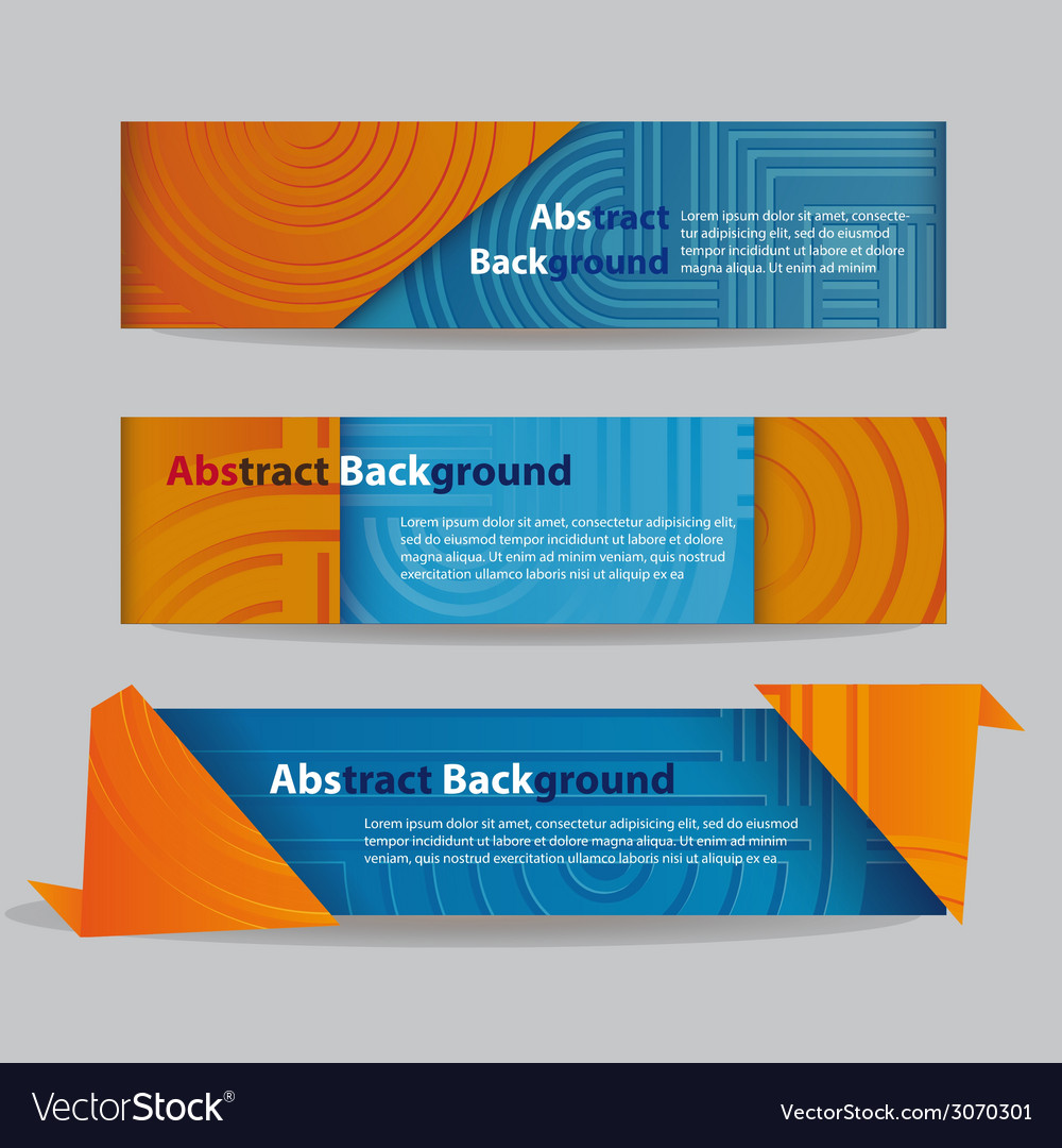 Abstract banners with ribbon vector